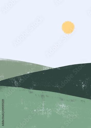 Morning glory minimalist illustration Canvas Print