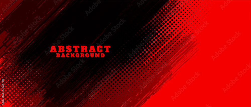 Fototapeta abstract red and black grunge background design