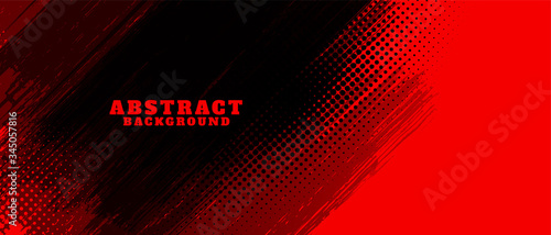 Fotografia abstract red and black grunge background design