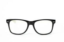 Black Vintage Glasses Isolated...
