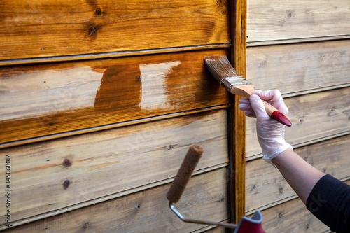 Fotomural Peindre du bois