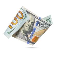 Hundred Dollar Bill Isolated O...
