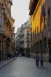 A street at sunset in Valencia, Spain