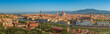 Fascinating panoramic view of the city of Florence at summer's noon. Travel destination Tuscany, Italy