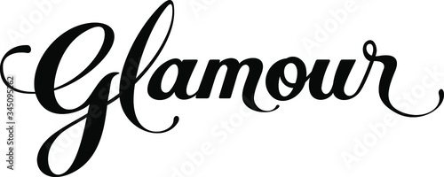 Glamour - custom calligraphy text Canvas Print