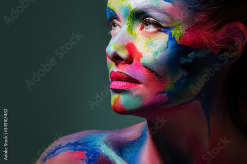 Fotografie, Obraz Multicolored skin, difficult to identify