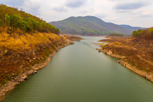 View At Mae Kuang Udom Thara Dam,Chaing Mai Thailand.