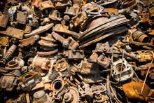 Pile Of Old Rusty Metal Scrap,...