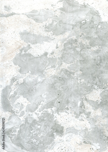 Textura de superfície com tinta parecida com mármore em tons de cinza, marrom e branco Wallpaper Mural
