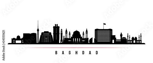 Baghdad skyline horizontal banner Fototapeta