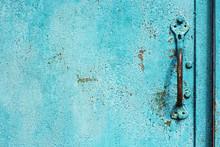 Old Grunge Texture With Door Handle.
