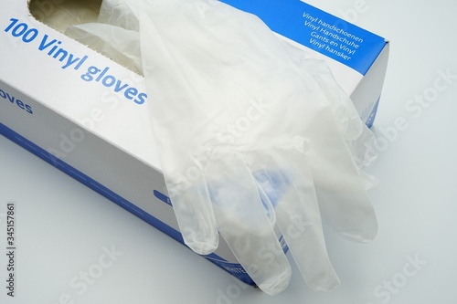 Obraz A box with vinyl disposable gloves - fototapety do salonu
