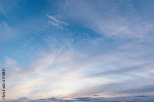 Obraz Amazing cloudscape on the sky at sunset time. - fototapety do salonu