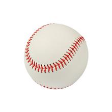 Close Up One Baseball Ball Isolated On White