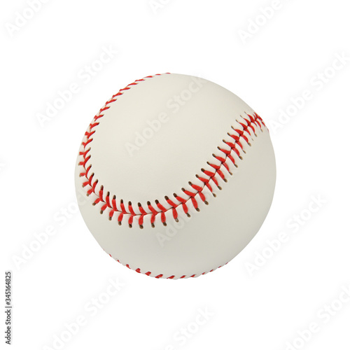 Fototapeta Close up one baseball ball isolated on white obraz