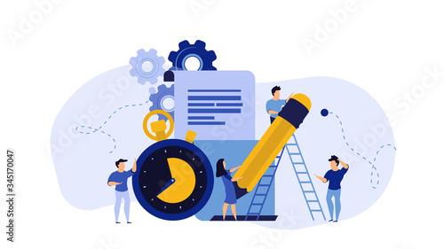 Photo Business student plan work full time vector entrepreneurship service illustration