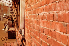 Street Brick Wall. Digital Background For Studio Photographers.