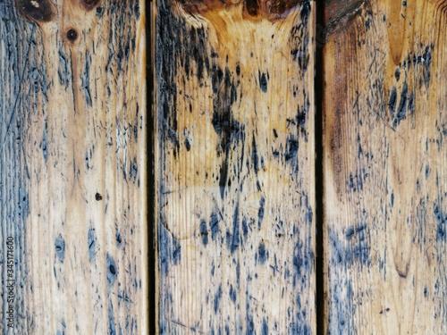 Obraz Mokre deski, stół mokry drewniany - fototapety do salonu