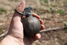 Hand Grenade On The Ground