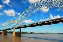 The DeSoto Bridge Spans The Mi...