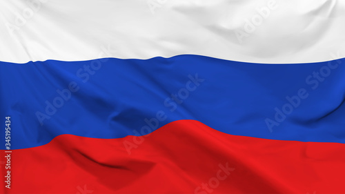 Fragment of a waving flag of the Russian Federation in the form of background, a Canvas Print