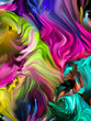 canvas print picture - Swirling Color Background