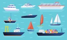 Collection Of Ships And Sailbo...