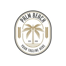 Palm Beach Vintage Logo Design...
