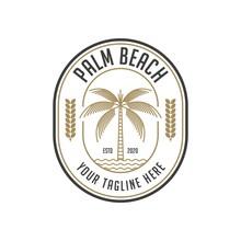 Palm Beach Vintage Logo Design...