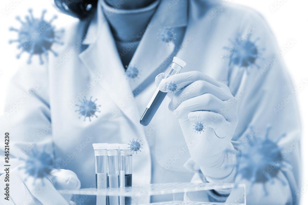 Fototapeta 医療イメージ 世界的な感染症の流行と治療