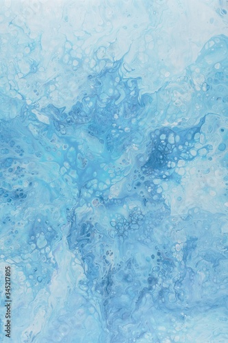 Vertical shot of a beautiful calming background in oily blue pastel colour