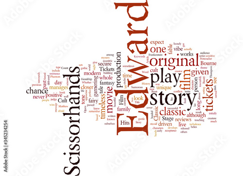 Word Cloud Summary of Edward Scissorhands Tickets A Cult Film Classic Hits The S Canvas Print