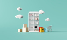 Online Shopping Concept On Sma...