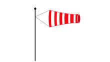 Wind Speed Flag Flat Icon