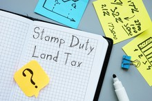 Business Concept About Stamp Duty Land Tax SDLT With Phrase On The Sheet.