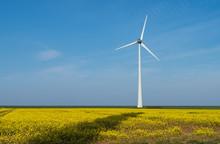 Modern Wind Turbines Producing...