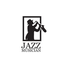 Silhouette Music Jazz Player W...