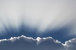 rozświetlona chmura