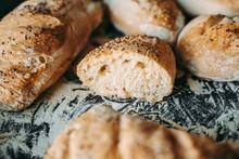 Freshly Baked Bread At The Bak...