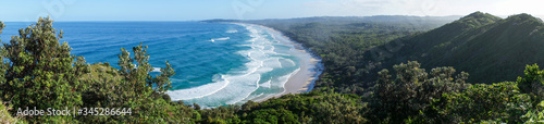 Fotografering Panoramic view of Byron bay in australia