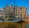 Amsterdam The Netherlands historical city center and canals