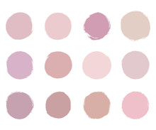 Round Soft Pastel Pink Brush S...