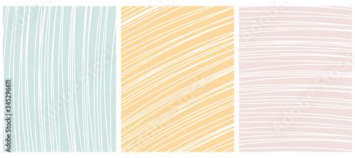 Fotografie, Obraz Set o 3 Abstract Geometric Layouts