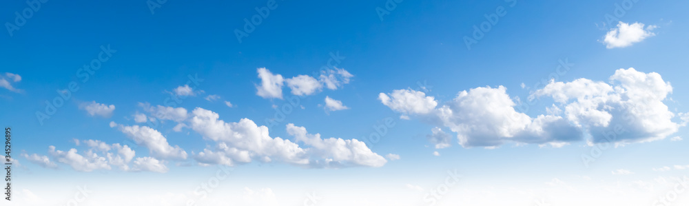 Fototapeta Sky clouds summer panorama