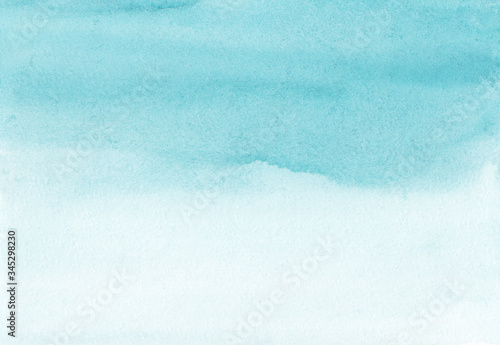 Watercolor blue and white gradient background Canvas Print