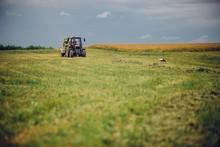 Horizontal View Of A Tractor I...
