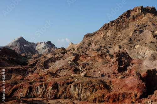 The interesting and beautiful rock formations of Hormuz Island, Iran Canvas Print