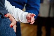 Children Hand In Mom Hand