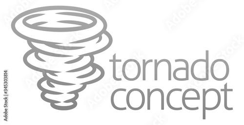 Fototapeta A tornado twister hurricane or cyclone stylised icon concept