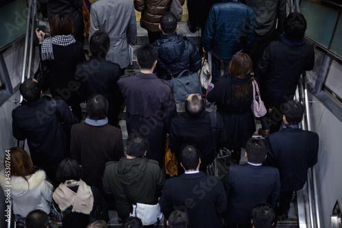 Fotografie, Obraz 密集するビジネスマンたち